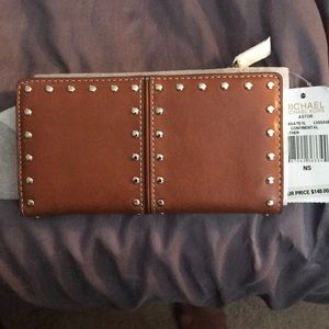 New Michael Kors leather silver studded wallet